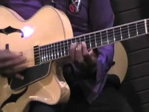Ron Jackson Jazz Blues Guitar Improvisation w John Pisano live at NAMM 2012