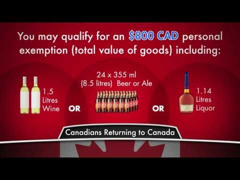 Duty Free Canada: Canadian Customs Allowances EXTENDED VERSION