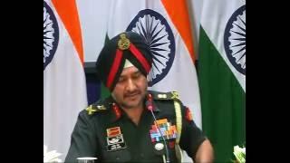 Press Conference by DGMO Lt. Gen Ranbir Singh on surgical strikes in Pok