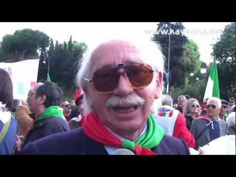 Roma, 25 aprile 2012 il corteo dei partigiani.