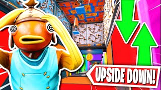 The UPSIDE DOWN Default Deathrun! (Fortnite Battle Royale Creative Mode)
