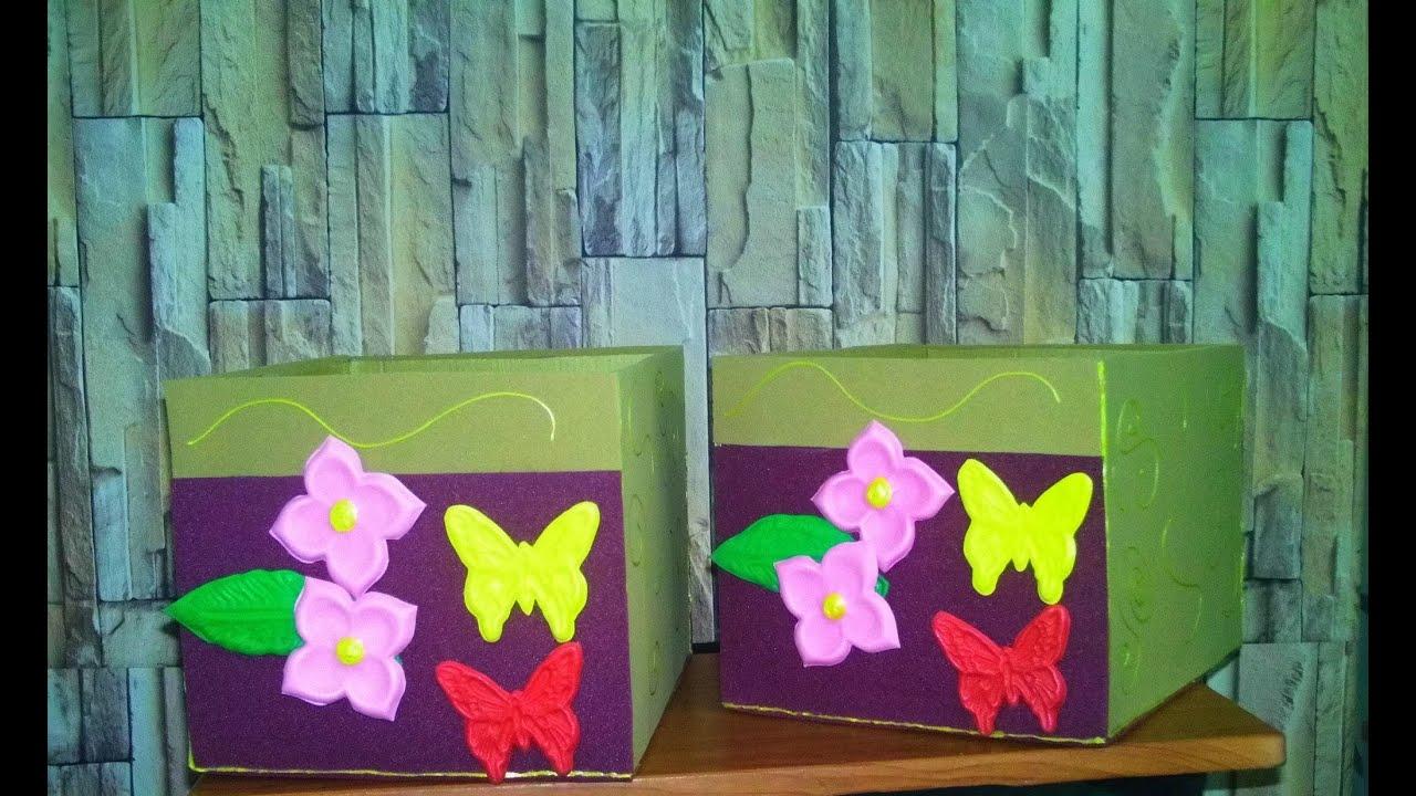 Diy como decorar una caja con foami facil youtube for Accesorios de decoracion