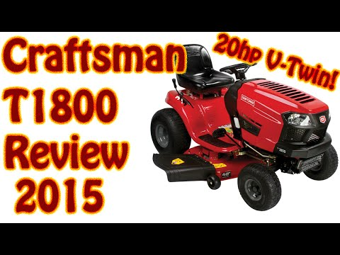 2015 Craftsman T1800 20HP Kohler V-Twin Riding Lawn Mower Review - Sears Lawn Tractor Review