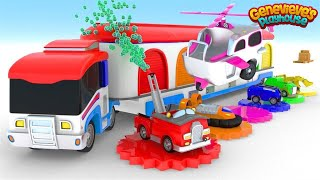 Learn Colors and Vehicle Names for Kids Animation Videos!