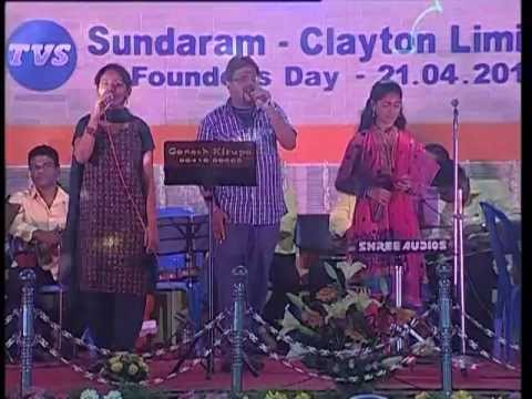 Super Singers Nithyashree & Prasanna In Ganesh Kirupa Best Light Music Orchestra In Chennai video