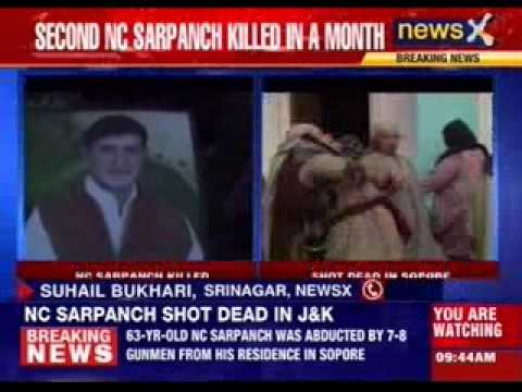 Body of kidnapped sarpanch found in Sopore, Jammu and Kashmir