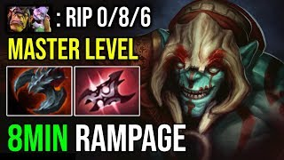 WTF 8Min Rampage Top Immortal Huskar Spammer Master Level Ez Destroyed Pro Alchemist Mid DotA 2