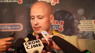 2012 Tim Hortons Brier Semi-Final Media Scrum