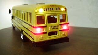 Alisha's custom South Harrison Indiana school bus model with working lights