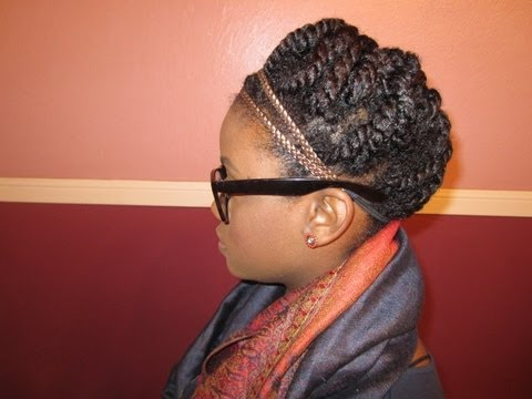 Natural Hair | Winter Protective Style Two Strand Twist Updo