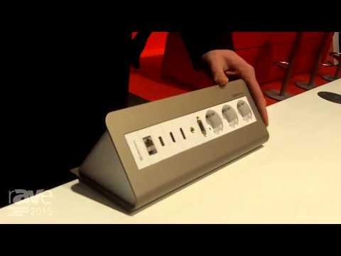 ISE 2015: Kindermann Exhibits CablePort Desk 2 Mounting System