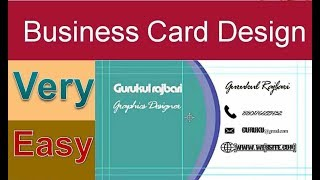 How to make a creative business card photoshop tutorial 0933 how to make design business card photoshop2photoshop tutorial by gurukul colourmoves