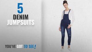 Top 10 Denim Jumpsuits [2018]: Broadstar Women Denim Blue Dungarees