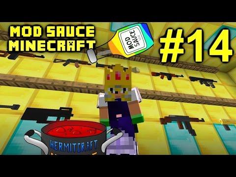 Minecraft Mod Sauce Ep. 14 - Midnight Ritual & Guns !!! ( HermitCraft Modded Minecraft )