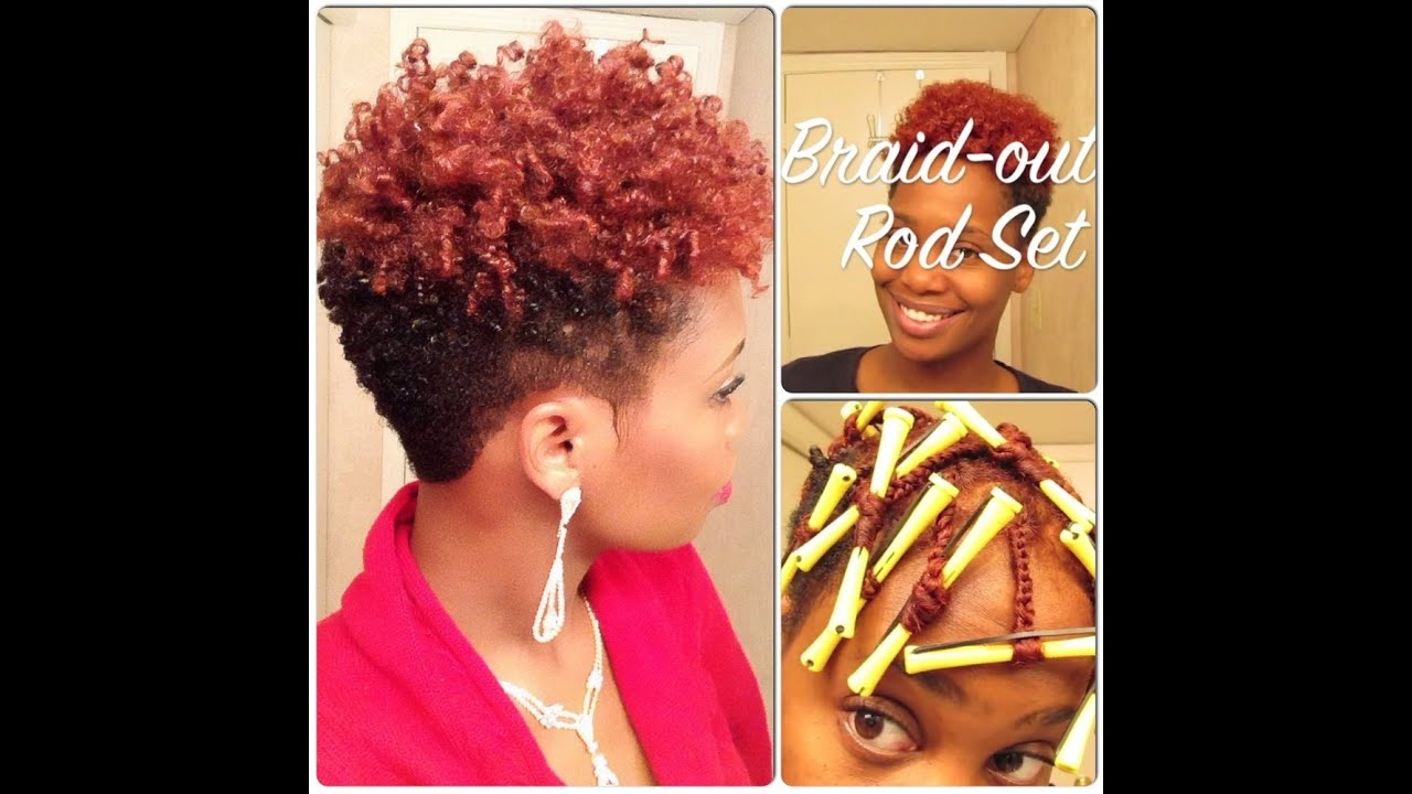Braid-Out Rod Set on Tapered Natural Hair - YouTube