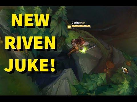 NEW RIVEN JUKE! BEST ESCAPE!! INSANE DAMAGE! [ League of Legends ]