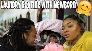 Laundry Routine  with  newborn baby | vlog