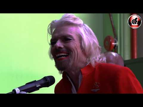 Virgin's Boss Sir Richard Branson turns stewardess after losing his Bet : www.aforadio.com