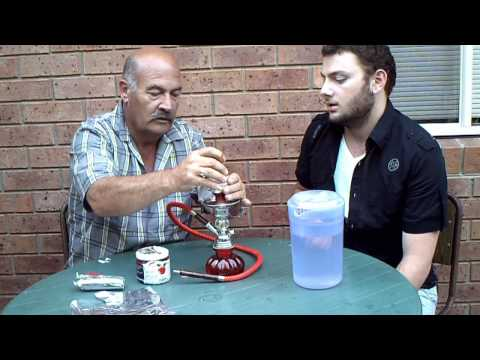 How To Setup A Water Pipe(argileh hookah sheesha) video