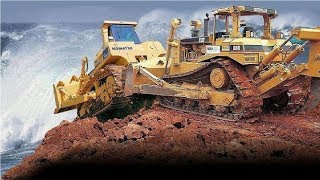 Extreme Dangerous Bulldozer Heavy Equipment Operator Skill - Amazing Modern Construction Machinery