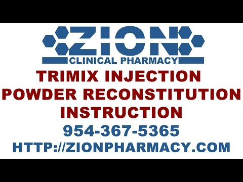 trimix injection solution reconstitution in this video patients can