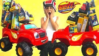BIGGEST Blaze and the Monster Machine Toy Collection Unboxing Fun Kids Video TBTFUNTV