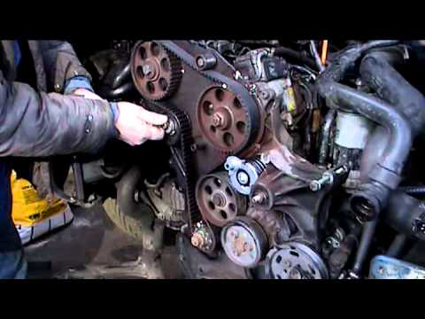 timing belt installation on a VW passat 1.9 TDI
