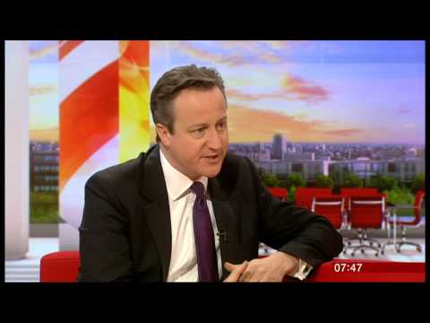 David Cameron and Charlie Stayt discuss the 2nd Clegg/Farage TV debate