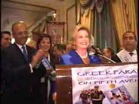 "ELLOPIA TV USA Carolyn Maloney ""Bouboulina"" Greek Parade 2008"