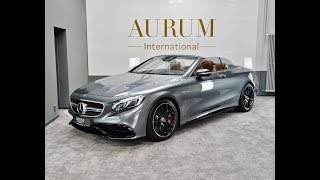 MERCEDES-BENZ S 63 AMG 4M *Selenitgrey* *Cabrio* Walkaround by AURUM International