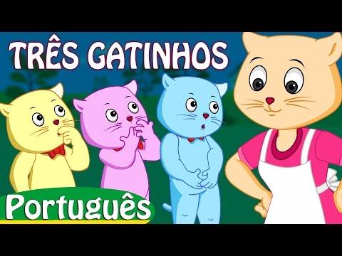 três gatinhos   rimas de berçário coleção   canções infantis em português   ChuChu TV