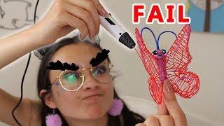 Een 3D-pen van ACTION?? | FAIL | 3D printing pen testen