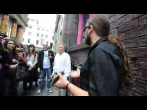 Sepultura guitarist Andreas Kisser on Cavern Club wall...