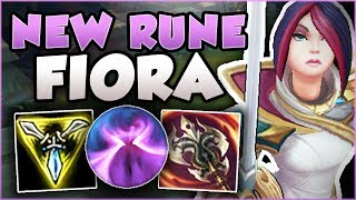 WTF.. RIOT 100% BROKE FIORA WITH THIS NEW RUNE! FIORA SEASON 8 TOP GAMEPLAY! - League of Legends