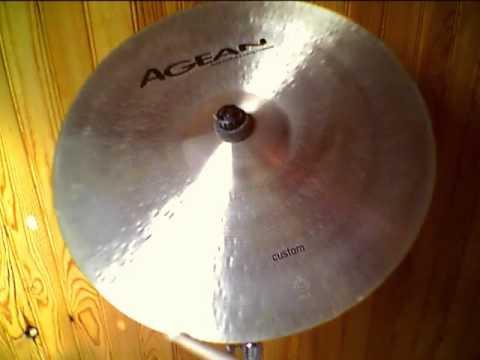 "Agean Custom Crash 16"" cymbal"