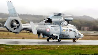 French Navy - Eurocopter AS565 Panther F-XCHL startup & takeoff at Albi-Le Séquestre [LBI/LFCI]