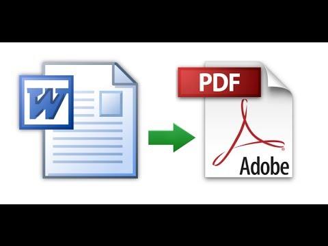 Convert MIcrosft Word document to PDF