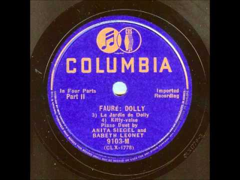 Faure: Dolly Suite (Siegel & Leonet, 1934)