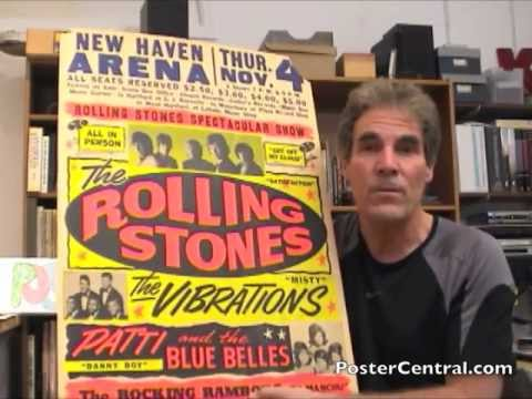 Rolling Stones Concert Poster 1960s by Globe Poster Baltimore