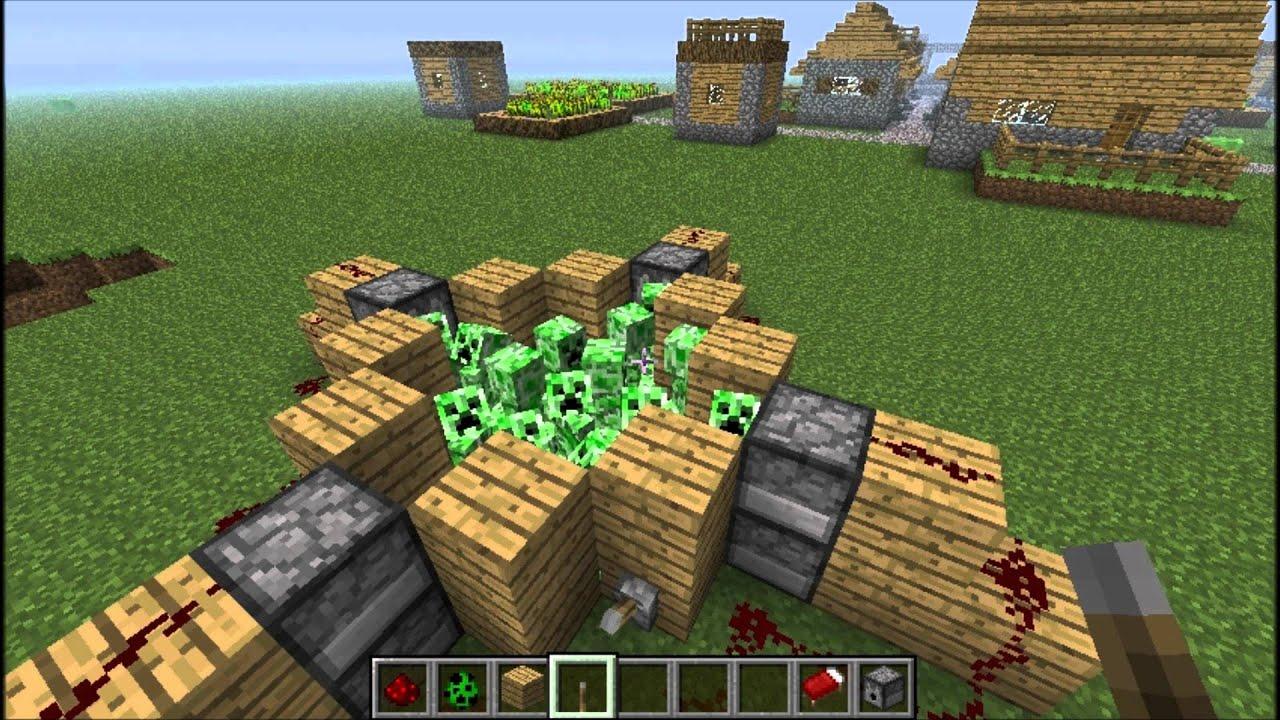 Minecraft 10 Ways To Kill A Creeper Youtube