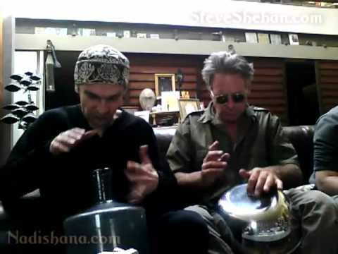 Steve Shehan & Nadishana - salad bowl and glass bottle duo