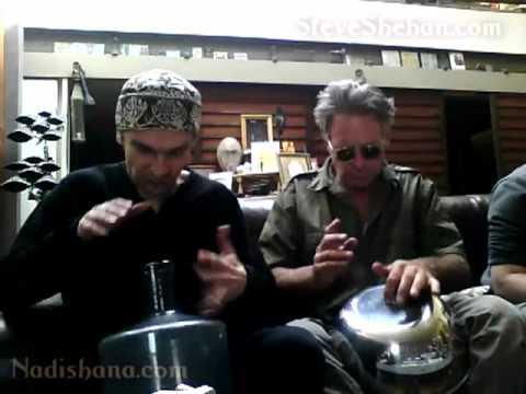 Steve Shehan & Nadishana - salad bowl and glass bottle duo