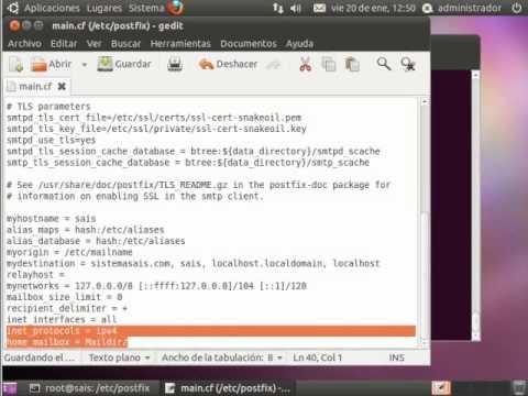 Instalación y configuración de un servidor de correo en Ubuntu.