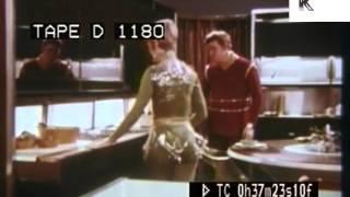 1960s American Home of Tomorrow, Retro Futuristic Kitchen Design, Gadgets