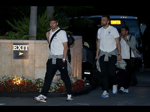 England Football Team Arrival In Krakow Poland