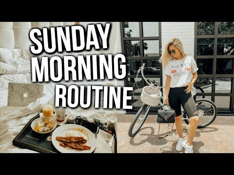 sunday morning routine | summer 2018