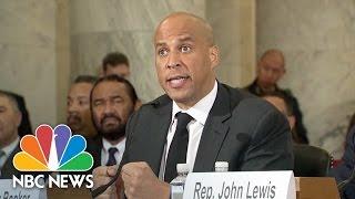 Senator Cory Booker Testifies Against Senator Jeff Sessions In Confirmation Hearing | NBC News