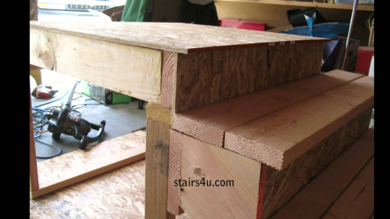 You must compensate for 1 inch step overhang stair building landings and floors youtube - How to build a garage cheaply steps ...