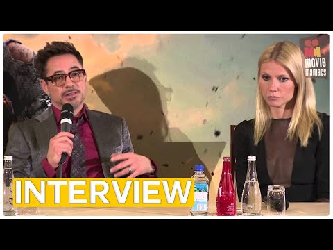 Iron Man 3 | meet the press Paris (2013) Robert Downey Jr. Gwyneth Paltrow