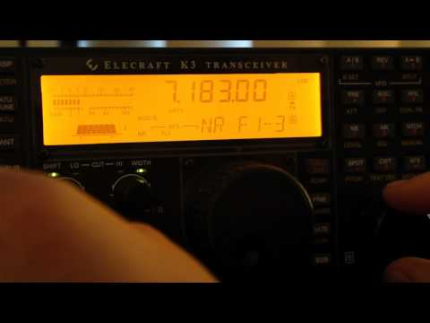 Elecraft K3 Noise Reduction Demonstration